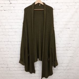 Free People Cardigan Sweater Oversized Open Front